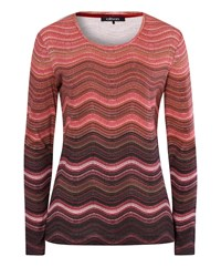 Olsen Wave Stripe T Shirt Red