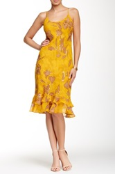 Chaudry Printed Sequin Tank Dress Yellow
