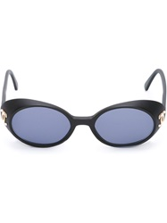 Chanel Vintage Logo Detail Sunglasses Black