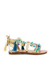 Mystique Lace Up Sandals Metallic Gold