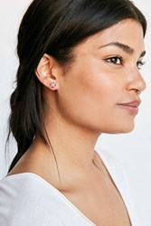 Urban Outfitters Rough Cut Stone Post Earring Clear