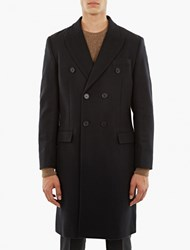 Editions Mr Navy Double Breasted Wool Coat