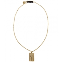 Marc By Marc Jacobs Engraved Dog Tag Pendant Necklace Oro
