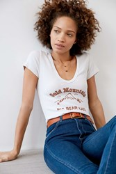 Truly Madly Deeply Big Bear Mountain Tee Ivory