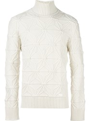 Dsquared2 Japanese Star Knit Jumper Nude And Neutrals