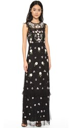 Needle And Thread Floral Frill Maxi Dress Black
