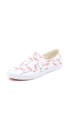 Bucketfeet Flamingos Slip On Sneakers White Pink