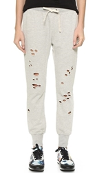 Pam And Gela Betsee Sweatpants With Holes Heather Grey