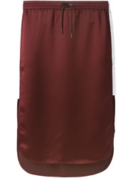 T By Alexander Wang Contrast Side Stripe Skirt Red