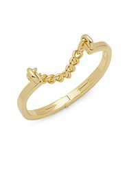 Giles And Brother Gold Plated Stirrup Hinged Bracelet