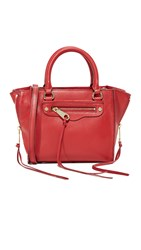 Rebecca Minkoff Side Zip Mini Regan Tote Deep Red