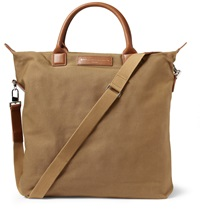 Want Les Essentiels O'hare Leather Trimmed Organic Cotton Canvas Tote Bag Brown