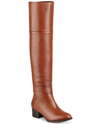 Tommy Hilfiger Gianna Over The Knee Boots Women's Shoes Luggage