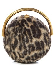 Stella Mccartney Leopard Faux Fur Clutch