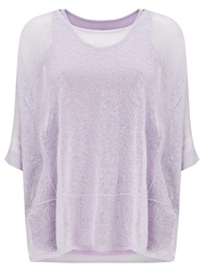 Phase Eight Sana Sheer Knit Top Soft Lilac