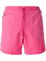 Boss Hugo Boss Side Stripe Swim Shorts Pink And Purple