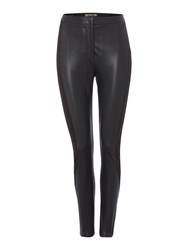 Biba Panelled Pu And Stretch Trouser Black