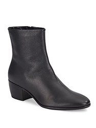 Giuseppe Zanotti Cuban Heel Leather Bootie Black