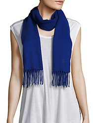 Yves Saint Laurent Wool And Cashmere Scarf Dazzle Blue