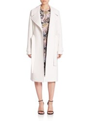 A.L.C. Richard Wrap Coat White