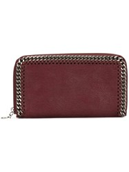 Stella Mccartney 'Falabella' Top Zip Wallet Pink And Purple