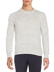 Atm Anthony Thomas Melillo Saddle Shoulder Speckled Cashmere Sweater Granite