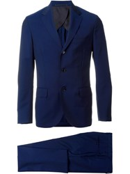 Mp Massimo Piombo Two Piece Suit Blue