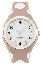 Kate Spade 'Rumsey' Plastic Strap Watch 30Mm Grey White Polka Dot