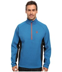 Spyder Outbound Half Zip Mid Weight Core Sweater Concept Blue Black Rage Men's Long Sleeve Pullover