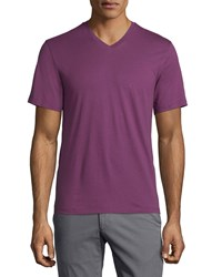 Zachary Prell V Neck Short Sleeve Tee Purple Men's