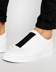 Asos Trainers In White With Chunky Sole White
