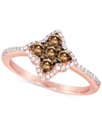 Le Vian Chocolatier Diamond Star Ring 1 2 Ct. T.W. In 14K Rose Gold No Color