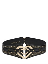 Manish Arora 100Mm Heart Leather High Waist Belt