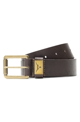 Jack Mason Brand 'Texas Longhorns Gridiron' Leather Belt