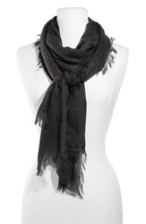 Women's Nordstrom Cashmere And Silk Wrap Black