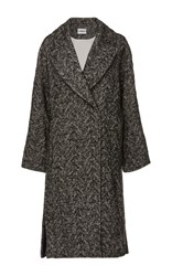 Cacharel Tweed Overcoat Black