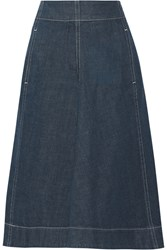 Christophe Lemaire Lemaire Pleated Denim Skirt Mid Denim