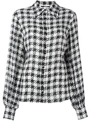 Mcq By Alexander Mcqueen Houndstooth Print Shirt Black
