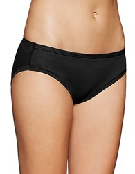 Fine Lines Pure Cotton Bikini Panties Black
