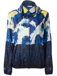 Pierre Louis Mascia Printed Bomber Jacket Blue