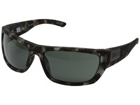 Spy Optic Dega Soft Matte Smoke Tort Happy Gray Green Athletic Performance Sport Sunglasses