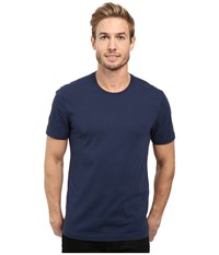 Agave Supima Crew Neck Short Sleeve Tee Black Iris Navy Men's T Shirt Blue
