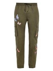 Valentino Butterfly Embroidered Cotton Trousers