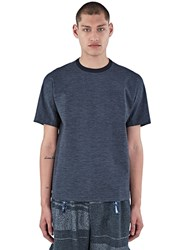 Kolor Crew Neck Technical Boxy T Shirt Grey
