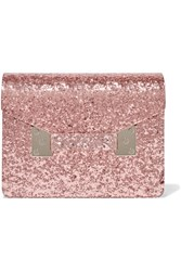 Sophie Hulme Compton Glittered Perspex Clutch Pink
