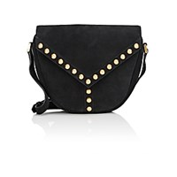 Saint Laurent Women's Y Studded Shoulder Bag Black Blue Black Blue