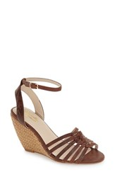 Women's Seychelles 'Top Notch' Knotted Wedge Sandal Whiskey