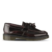 Dr. Martens Men's Adrian Tassel Leather Loafers Cherry Red