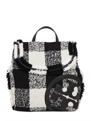 Tory Burch Lonnie Cotton And Wool Tweed Backpack