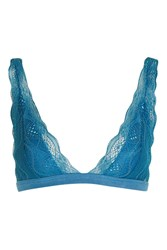 Topshop Lace Triangle Bra Green
